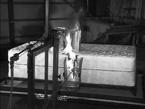 Mattress Burn Test Photo
